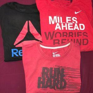 Nike and Reebok tshirts